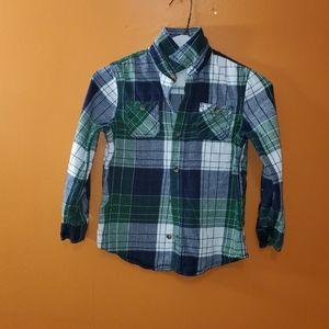 ARIZONA JEAN CO XL 7 Blue Plaid Flannel Shirt 2nd